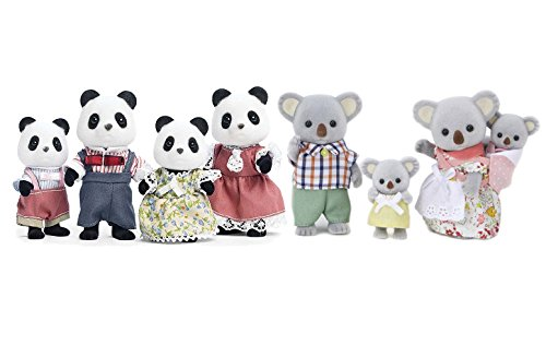 Calico Critters Outback Koala and Wilder Panda Bear Family Sets