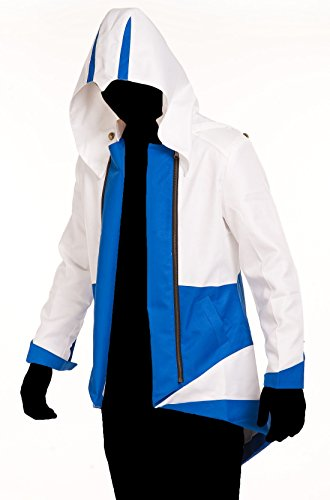 Creed Kids Assassins Costumes (TEENTAGE Assassin's Creed 3 Connor Kenway Hoodie Jacket,White and)