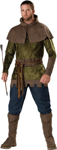 InCharacter Costumes Men's Robin Hood Of Nottingham Costume, Green/Brown, Medium