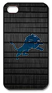 icasepersonalized Personalized Protective Case For Iphone 5C Cover NFL Detroit Lions in Wood Backgroundin Wood Background