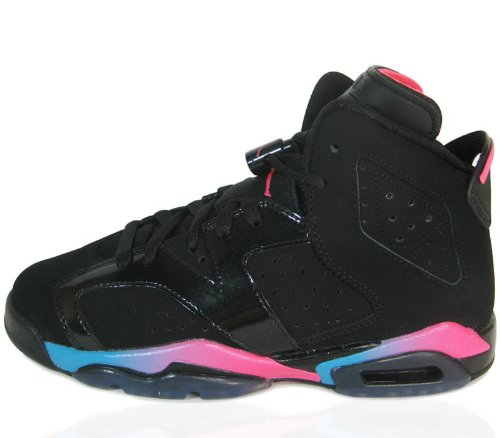 timeless design b3fce 815aa Nike GIRLS AIR JORDAN 6 RETRO (GS) 543390 050 BLACK PINK FLASH-MARINA BLUE  SIZE 4y  Amazon.ca  Shoes   Handbags