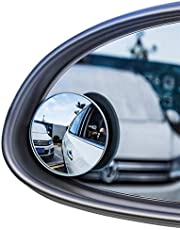 Baseus 2Pcs Car Holder HD Rearview Mirror For Car Auto Rear View Mirror Anti Fog Wide Angle Convex Blind Spot Rimless Car Mirror