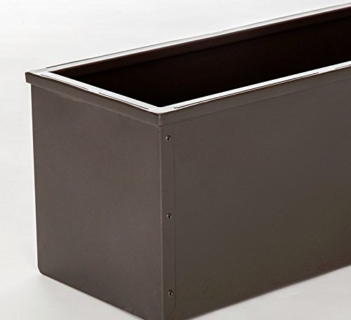 42'' Bronze-tone Metal Window Box Liner by Windowbox