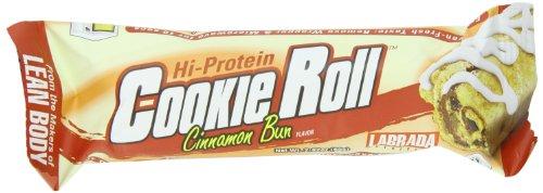 Labrada nutrición Lean cuerpo galleta comida recambio barra de rodillo, bollo de canela, 2,82 onzas barras (paquete de 12)