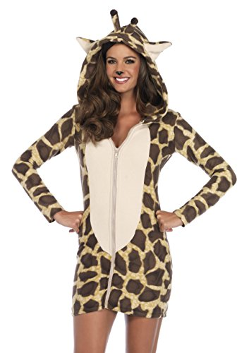 Leg Avenue Women's Cozy Giraffe, Brown, Medium