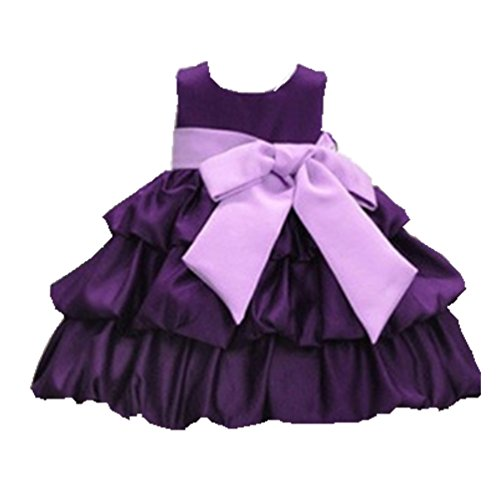 Generic Kids Cotton Dress Skirt, Big Tutu Skirt Folds (110-4T, Purple)