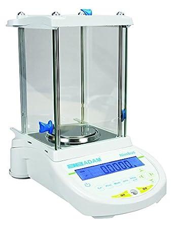 AE ADAM NBL 84i Balanza Analítica con Capacidad de 80 g y Legibilidad de 0.0001 g, Calibración Interna: Amazon.es: Industria, empresas y ciencia