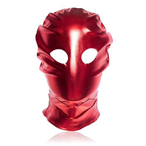 Raycity Red Leather Costume Gimp Mask Hood Style 10 by Raycity