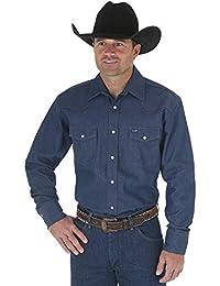 Men's Western Work Shirt Washed Finish
