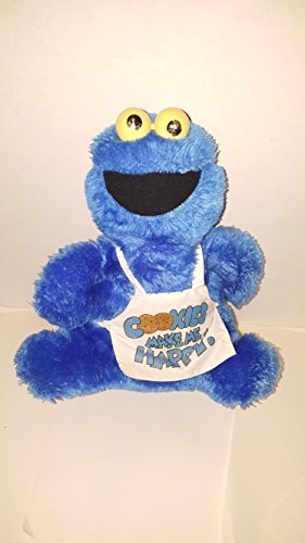 - Cookie Monster Plush Vintage Applause Rattle Eyes 80s Stuffed 11