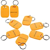HWMATE 125khz Induction ID Card Entry Access Keyfob Tag Token Keychain Card Color Yellow (100 Pack)