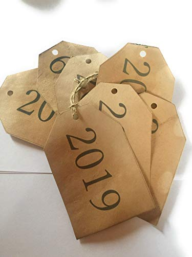Primitive Tags - Set of 10. 2019 Tea Stained Tags, Rustic tags, Rustic Wedding,Vintage wedding tags, Antique tags, Primitive tags, Graduation cards