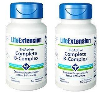 Life Extension Bio-Active Complete B-Complex, 60 Vegetarian Capsules (2) ()