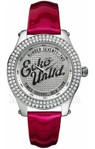 Marc Ecko E10038M4 Midsize Rollie Silver Red Watch