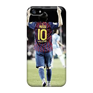 Marycase88 Iphone 5/5s Great Hard Phone Case Support Personal Customs Lifelike Messi Image [Cso7828ETqb]