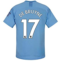 Puma Maillot Manchester City Home De Bruyne 17 2019-2020 (Impression Officielle Premier League)