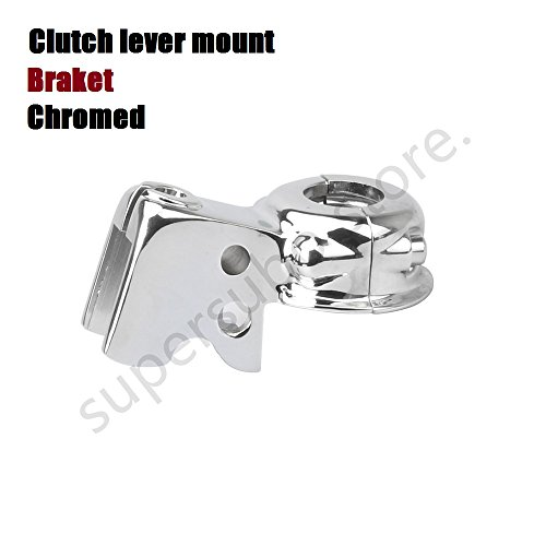 Chrome Clutch Lever Mount Bracket Perch For Harley Touring Dyna Softail (Clutch Lever Mount)