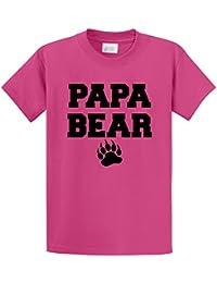 Men's Papa Bear T Shirt Cute Fathers Day Gift Tee T-Shirt