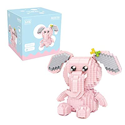 LOZ Pink Elephant Building Blocks Micro NO.9226 Compatible Nano Chistmas Bithday Gifts for Kids DIY Figures Assemble Educational Toys Model Kits: Toys & Games