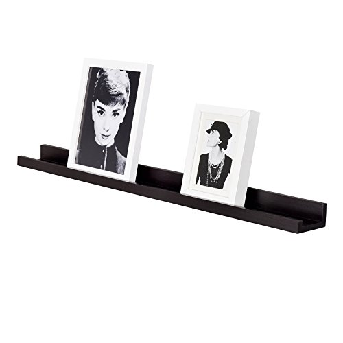 WELLAND Vista Photo Ledge Picture Display Wall Shelf Gallery (36-inch, Espresso)