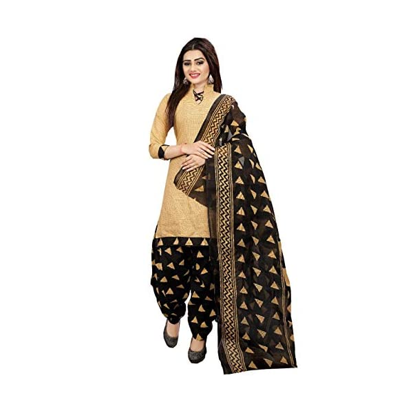 Rajnandini Women's Cotton Unstitched Salwar Suit (Pack of 2) (710-1006_Beige_Free Size)
