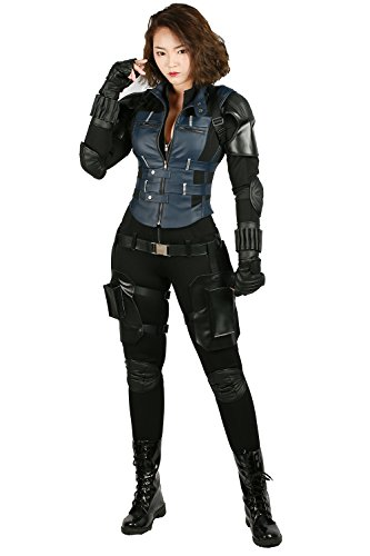 Xcostume Black Widow Costume Infinity Cosplay Outfit Suit for Women Halloween
