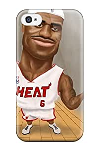 Best 7019304K302780974 nba basketball artwork lebron james miami heat NBA Sports & Colleges colorful iPhone 4/4s cases