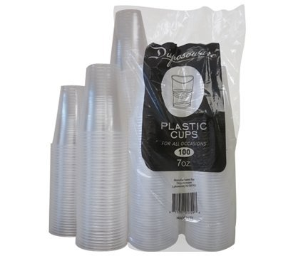 Disposoware-Plastic-Cups-7-Oz-100-Count-Clear