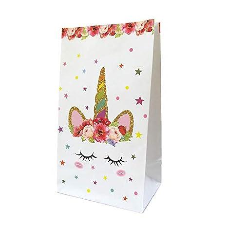 Amazon.com: Xiaogongju - 10 bolsas de papel de unicornio ...
