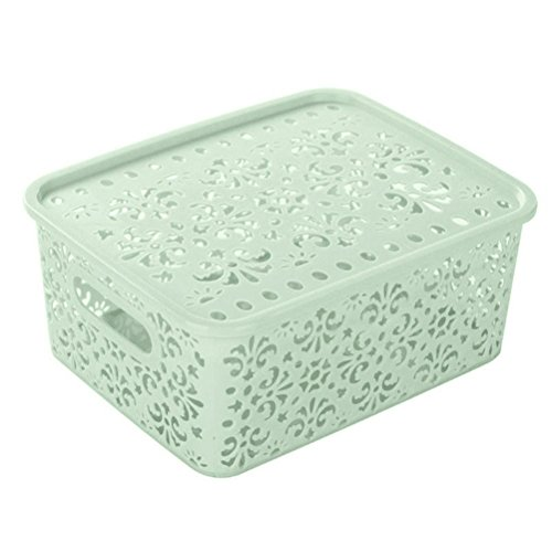 Storage Box ,IEason Clearance Sale! Plastic Storage Basket Box Bin Container Organizer Clothes Laundry Home Holder (Green)