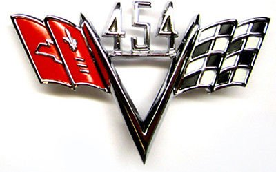 ersal Chevrolet 454 Cross Flag Emblem ()