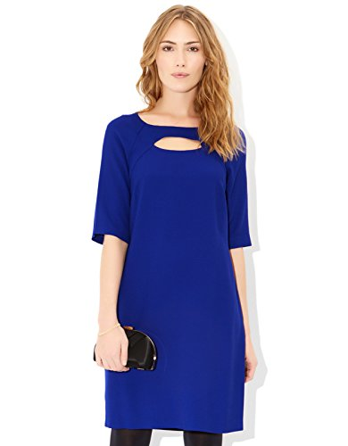 Monsoon Womens Azra Dress Size 8 Blue