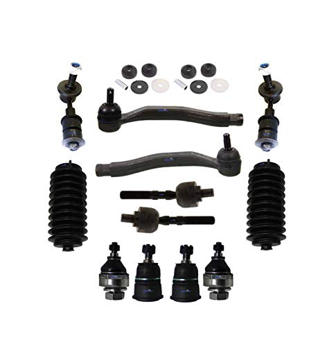 PartsW 14 Pc Suspension Kit for Honda Prelude 1992-1996 / Front Upper Shock Mount Bushing, Outer and Inner Tie Rod End, Lower Arm Sway Bar End Link, Upper & Lower Ball Joints, Bellow Boots