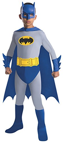 Batman The Brave and The Bold Batman Costume with Mask and Cape, Small (Sew Kids Boys Short)