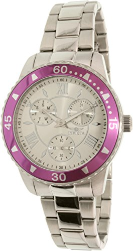 Invicta Women's 21767 Silver Stainless-Steel Quartz Watch