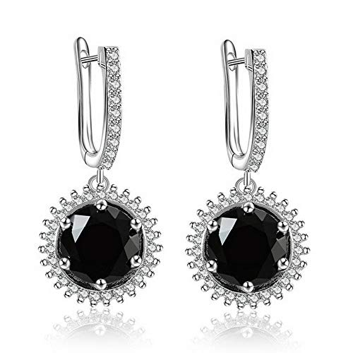 Endicot White Gold Plated Cubic Zirconia Dangle Drop Ear Stud Hoop Earrings Jewelry Gift | Model ERRNGS - 17085 |