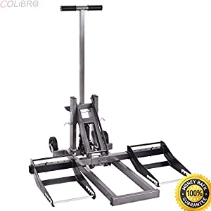 "COLIBROX--High Lift Jack Hydraulic Foot Pump Riding Lawn Mower ATV 25"" High 300lb Capacity. cheap lawn mowers. riding lawn mowers clearance. lawn mowers on sale. home depot lawn mowers."