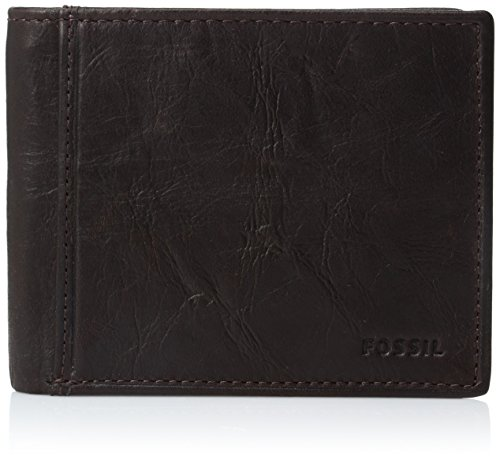 (Fossil Men's RFID Flip ID Bifold Wallet, Brown One)