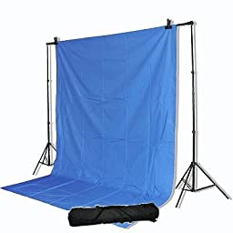 ePhoto 10x20ft Video Chromakey Chrom Key Blue Screen Support System Stands Kit 901+10x20Blu