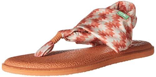 - Sanuk Women's Yoga Sling 2 Prints Flat Sandal,coral chevron,7 M US
