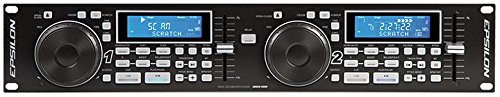 Epsilon CDUSB-2000 Professional 19'' Rackmountable Dual-Deck Multi-Format Digital CD/MP3/USB Player w/Effects by EPSILON