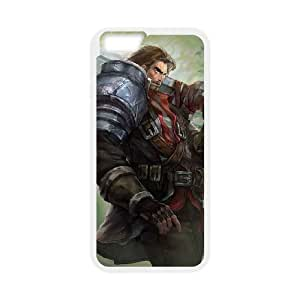 iPhone 6 Plus 5.5 Inch Cell Phone Case White League of Legends Rugged Garen UVW0626066