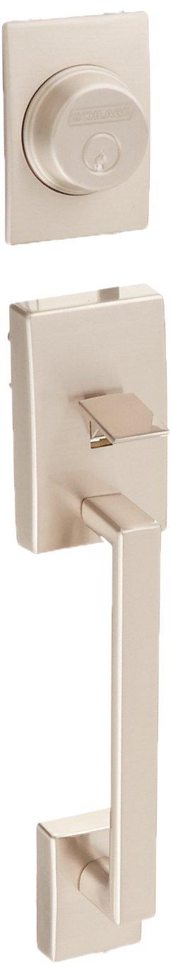 Schlage F92-CEN Century Dummy Exterior Handleset from the F-Series, Satin Nickel by Schlage Lock Company