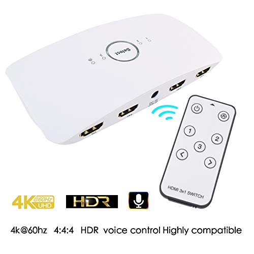 - Supplies WiFi Smart HDMI Voice Switcher, 4K 3x1 Supports Ultra HD 3D Remote Control Power Adapter Amazon Echo Compatible Alexa,Mobile APP, Remote Control,Panel Button Switching (6G-5RZE-NX7J)