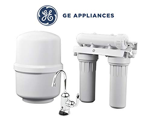 - GE Reverse Osmosis Under Sink 3 Stage Water Filtration System GXRM10RBL Filters Lead, Fluoride, Chlorine, Cysts, Arsenic, Cadmium 6 (NSF/ANSI 58)