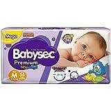 Fraldas descartáveis Babysec Premium Galinha Pintadinha Flexi Protect, 34 Unidades, Tamanho M 5 - 9,5 Kg