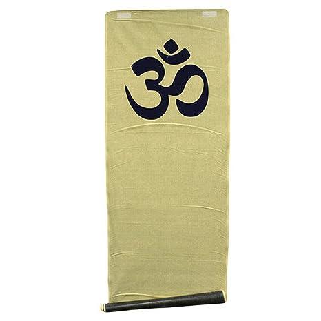 Esterilla de yoga yute Om Azul 180 X 57 Cm: Amazon.es ...