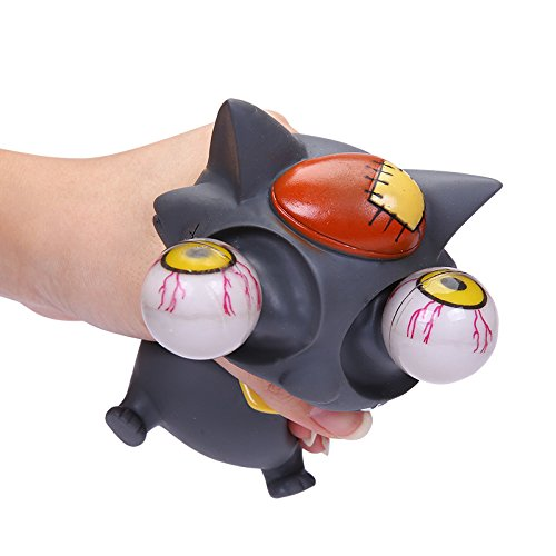 Funny Dumbstruck Pop Out Eyes Grey Wolf Stress Balls Bulging Eyes Squeezable Toy Decompression Antistress Tumbling Gifts (Eye Squeeze Ball)