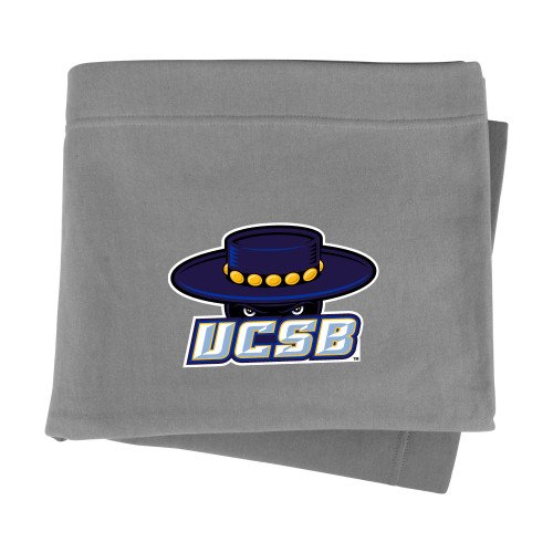 UC Santa Barbara Grey Sweatshirt Blanket 'Primary'