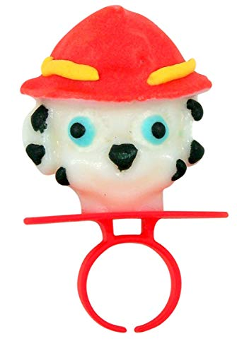 Assorted Flavor Decorated PAW Patrol Lollipops Rings, Case of 20